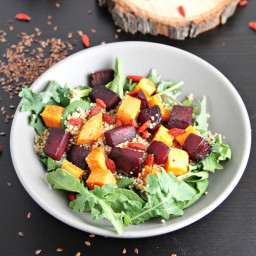 Roasted Beets and Sweet Potato Quinoa Salad