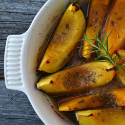 Roasted Brown Sugar and Rosemary Squash Wedges