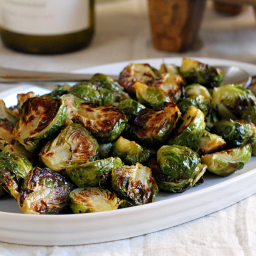 Roasted Brussels Sprouts with Honey-Balsamic Glaze