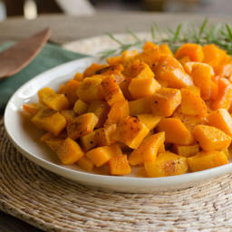 Roasted Butternut Squash with Duck Fat, Garlic and Rosemary