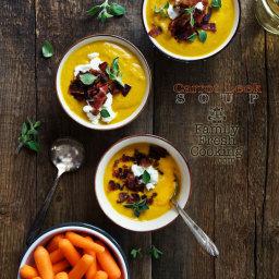 Roasted Carrot Leek Soup