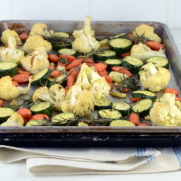 Roasted Cauliflower Carrots, and Zucchini