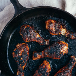Roasted Chicken Legs with Caribbean-Style Barbecue Sauce
