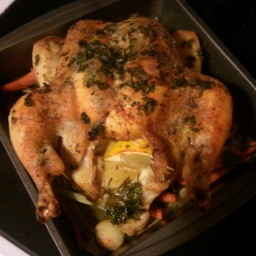 Roasted Chicken with Cilantro