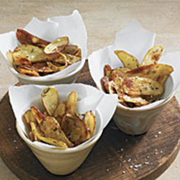 Roasted Fingerling Potato Crisps with Shallots and Rosemary