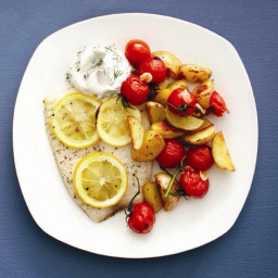 Roasted Fish & Creamy Dill Sauce (Chtl)