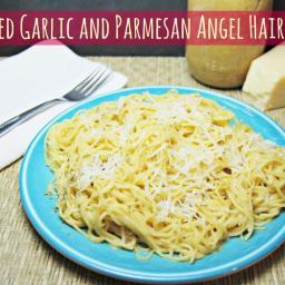 Roasted Garlic and Parmesan Angel Hair Pasta