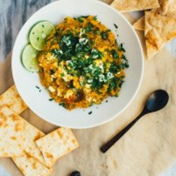 Roasted Golden Beet and Carrot Dip