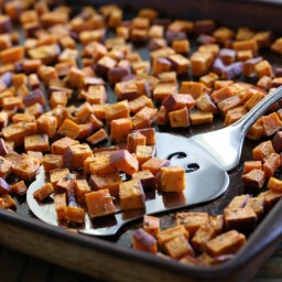 Roasted Herb Sweet Potato Bites