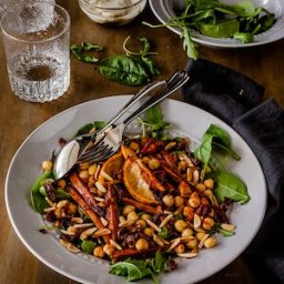 Roasted Moroccan Carrot Salad with chickpeas