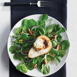 Roasted Pear Salad with Chèvre and Fig Vinaigrette