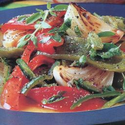 Roasted Peppers with Herbs