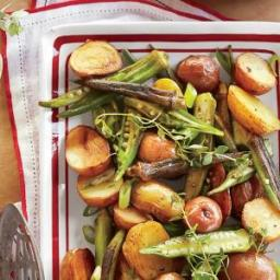 Roasted Potato-and-Okra Salad