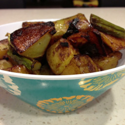 Roasted Potatoes, Asparagus and Onions