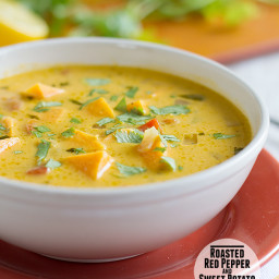 Roasted Red Pepper and Sweet Potato Soup