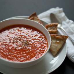 Roasted Red Pepper and Tomato Soup