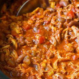 Roasted Red Pepper Chicken Chili Recipe