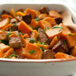 Roasted Sweet Potatoes with Tempeh