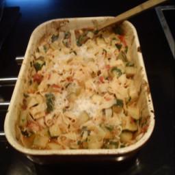 Roasted Tomato and Zucchini pasta
