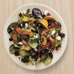 Roasted Beet, Apple, and Pear Salad with Goat Cheese, Cherries, and Pecans