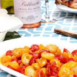 Roasted Cherry Tomatoes with Garlic and Honey