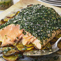 Roasted Salmon and Beets with Herb Vinaigrette