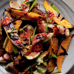 Roasted Sweet Potatoes and Fresh Figs