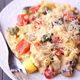 Roasted Vegetable Macaroni and Cheese