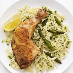 Roast Lemon Chicken with Orzo