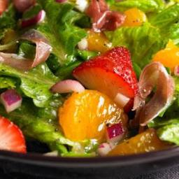 Romaine, strawberry and orange salad