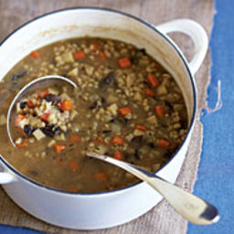 Root Vegetable and Barley Soup with Bacon