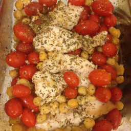 Rosemary Roasted Chicken with Chickpeas and Tomatoes