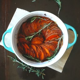Rosemary Baked Sweet Potatoes