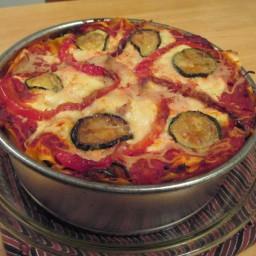Round Veggie Lasagna (meatless, Italian)