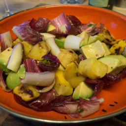 Round zucchini & avocado salad