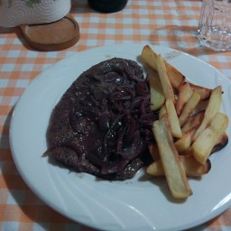 Rump Steak with Red Wine And Shallots