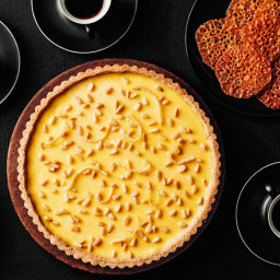 Rustic Lemon Tart (Torta Della Nonna al Limone) With Pine Nut Lace Cookies