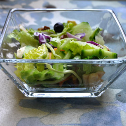 Salad with Blueberries and Dried Apple Chips