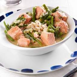 Salmon and Asparagus Farro Bowl