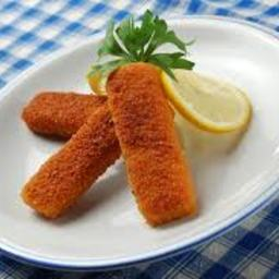 Salmon Fish Fingers with Pea Mayonnaise