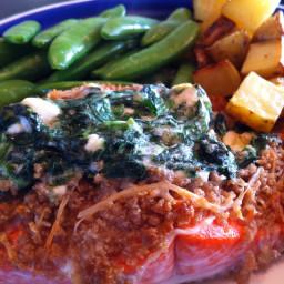 Salmon- Mascarpone + Spinach