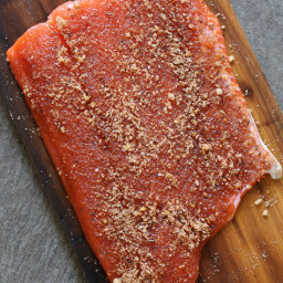 Salmon (Mustard-Brown Sugar) Rub