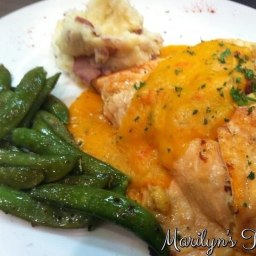Salmon Stuffed with Crab Meat