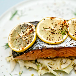 Salmon with Fresh Fennel and Lemon