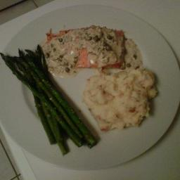Salmon with Lemon Dill Cream Sauce