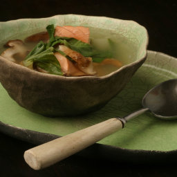 Salmon With Ginger And Lemon Grass Broth