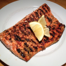 Salmon with Lemon and Oregano