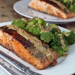 Salmon with Tarragon Dill Cream Sauce