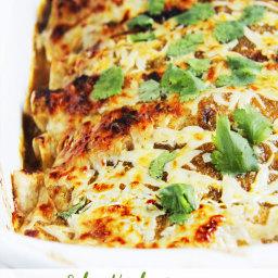 Salsa Verde Honey Lime Pepper Jack Chicken Enchiladas