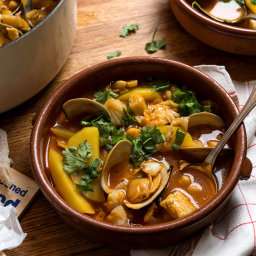 Salt Cod, Potato and Chickpea Stew